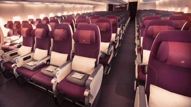 There are 461 economy seats, mostly in a 3-4-3 configuration.