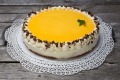 Eggnog cake, a rich concoction well known in Germany.