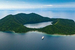 Cruising remote Indonesian islands on the Coral Adventurer.