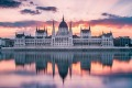 A stunning sunrise at the Hungarian Parliament.