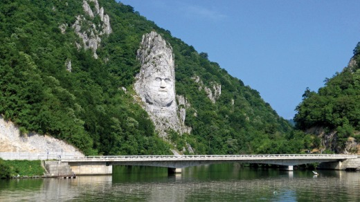The fabled Iron Gates – a series of towering natural gorges between Serbia and Romania.