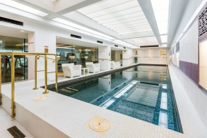 The indoot pool at Town Hall Hotel, Bethnal Green, London.