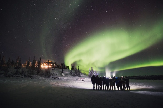 See the aurora borealis means staying up late and being outdoors in freezing temperatures.