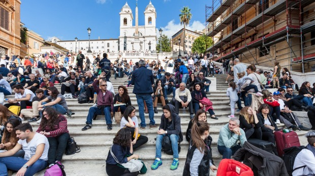 Rome's famous Spanish Steps. How many steps are there?