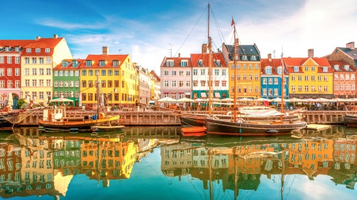 Copenhagen. Denmark was one of a few countries where the travel risk is 'insignificant'.