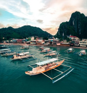 El Nido town is in northern Palawan.