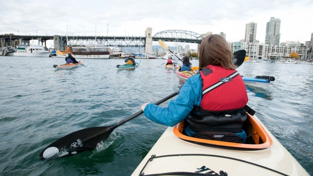 Kayaking in False Creek.