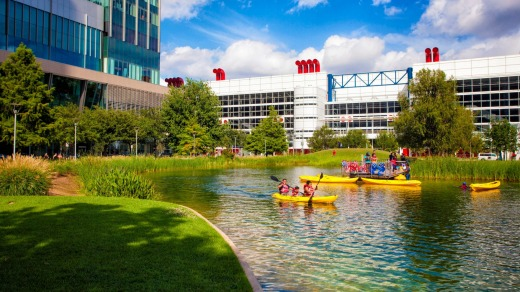Kayaking at Discovery Green in Houston.