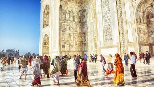 The Taj Mahal has one price for locals and a much higher one for tourists.