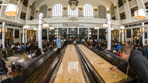 Shuffleboard game, Great Hall, Union Station.