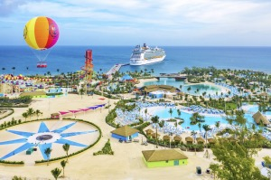 The 9000-capacity Bahaman-based CocoCay includes the largest wave pool in the Caribbean, 13 water slides and an almost ...