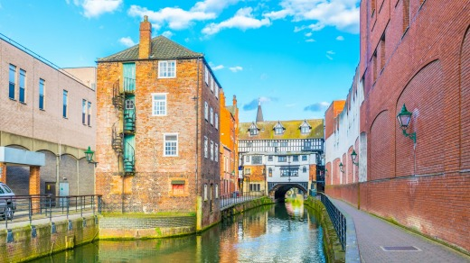 River Witham in Lincoln, England.