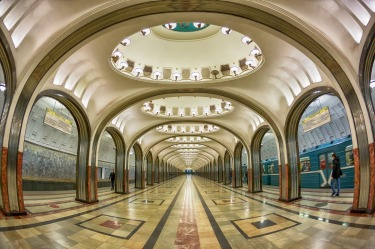 The Moscow Metro is widely acclaimed as the most beautiful transport system.