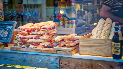 While in Granada, grab yourself a famous Spanish jamon sandwich.