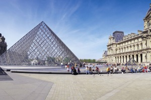 One of the most visited museums in the world, the Louvre.