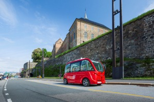 Driverless electric buses in Oslo.