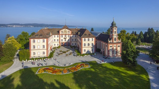 This 45-hectare island Mainau, joined by a bridge to the mainland near Konstanz, is devoted to gardens.