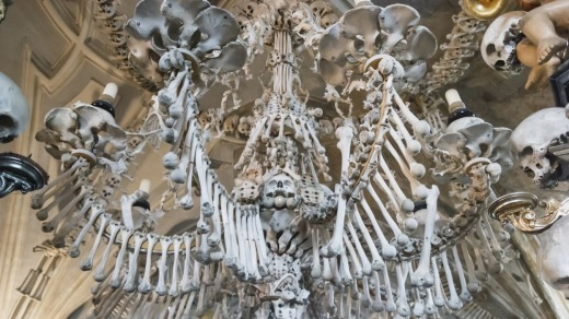 Selfie-takers have been observed rearranging bones at the church.