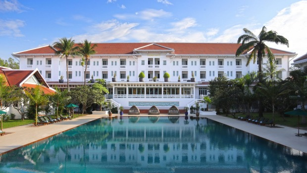 the iconic Raffles Grand Hotel d'Angkor in Siem Reap, with its glorious, glistening centrepiece, a 35-metre swimming ...