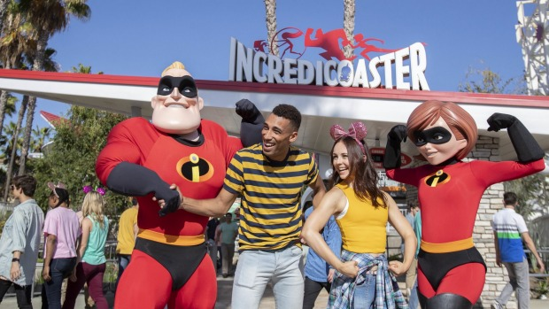 The Incredicoaster is the first ride-through attraction to feature characters from Dinesy and Pixar <i>The Incredibles</i>.