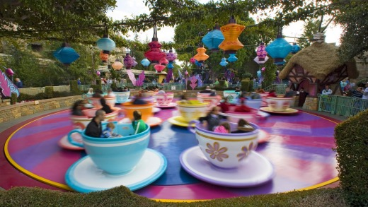The Mad Tea Party attraction was inspired by the classic Disney animated movie, <i>Alice in Wonderland</i> and recreates ...