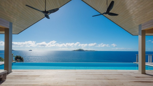 The view from the villas at Kokomo Private Island.