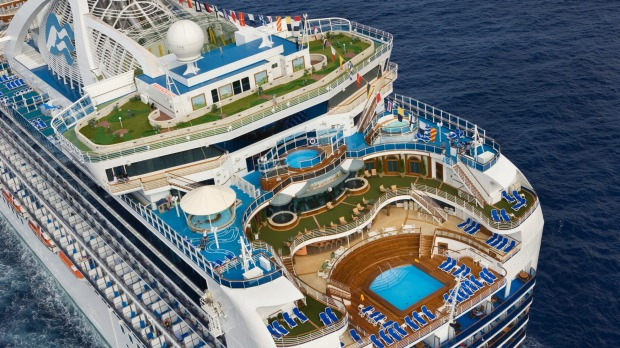 Ruby Princess made its debut in Sydney on Wednesday.