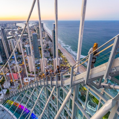 There, from 270 metres above sea level, you're treated to sweeping beachy views up and down the coast.