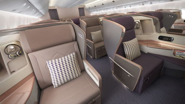 Singapore Airlines business class B777-300ER.