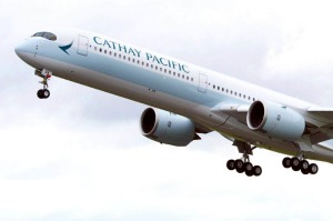 The Cathay Pacific A350-1000 is flying from Melbourne and Perth to Hong Kong.