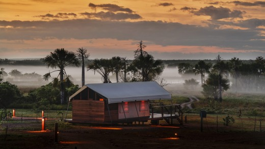 The safari suites at Murwangi are all beside Arafura Swamp.