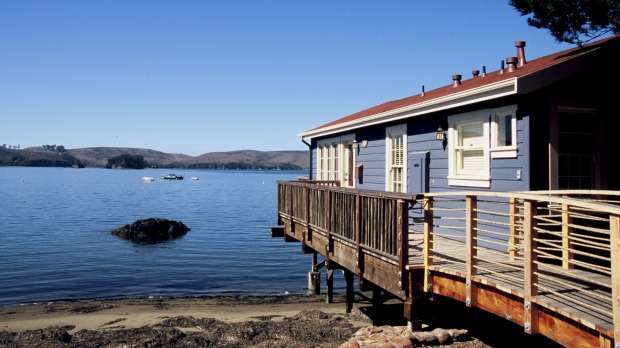 Waterfont cabins at Nick's Cove.