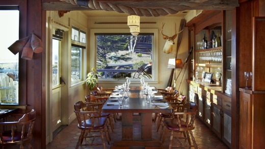 The dining room at Nick's Cove.