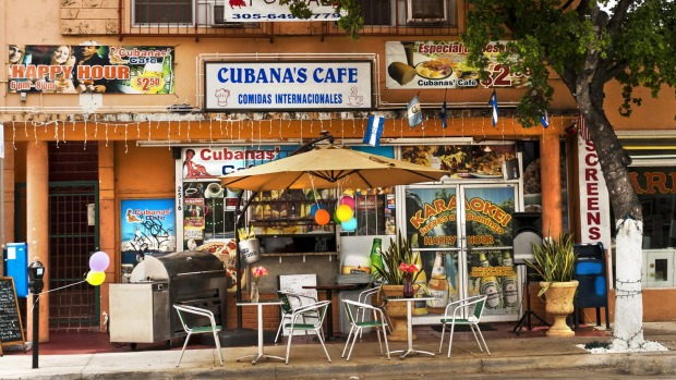 Cubanas Cafe, a typical Cuban and Latin American restaurant in famous Calle Ocho, heart of Little Havana, where you can ...