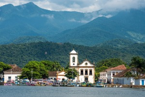 The Church Igreja de Santa Rita de Cassia in Paraty, Brazil.