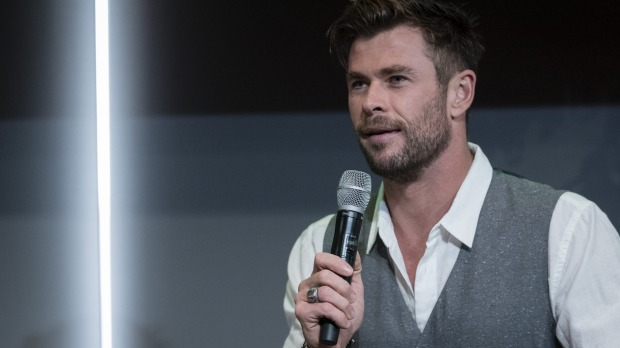 Chris Hemsworth attends a preview of Tourism Australia's latest campaign at Sydney Opera House.