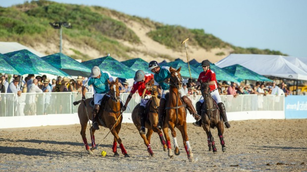 The annual Airnorth Cable Beach Polo tournament.