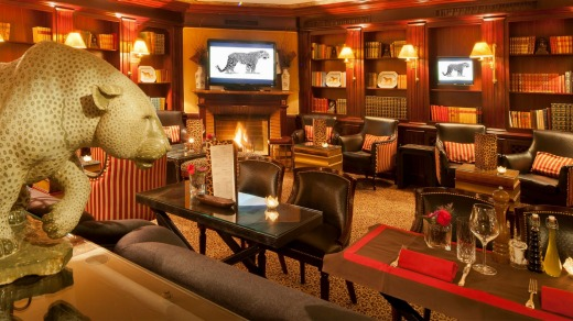 Enjoy an after-dinner drink and live music at the famous Leopard Lounge at Hotel d'Angleterre.
