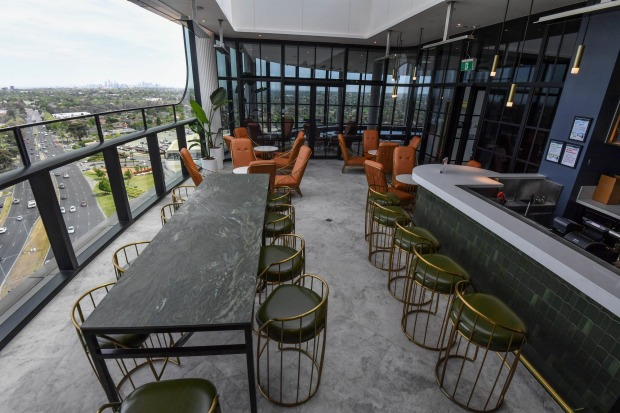 The 12th-floor rooftop bar is open to the public.