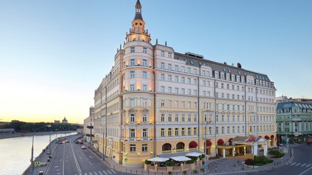 The majestic Hotel Baltschug Kempinski Moscow.