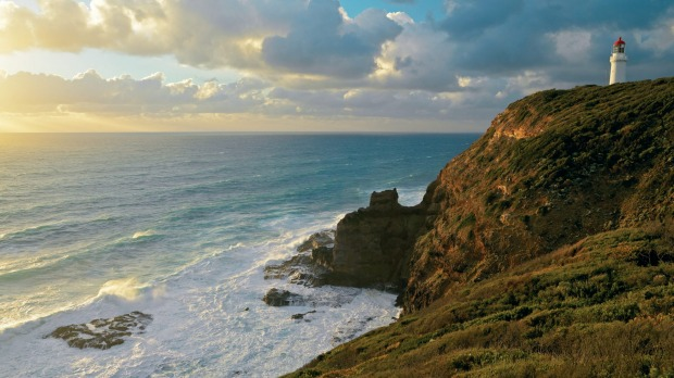 Cape Schanck lighthouse on the Mornington Peninsula, which was built in 1859 from the surrounding local limestone.