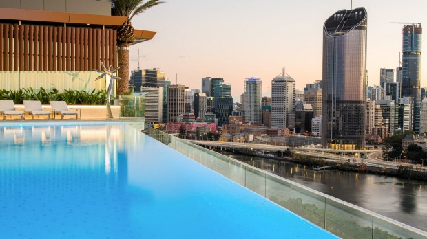 Outstanding: The infinity pool at the Emporium Hotel South Bank.