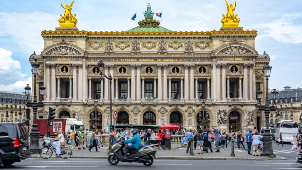 Palais Garnier, the city's grandiose 19th century opera house.