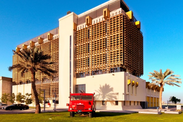 THE FIRE STATION  The main Qatari 1982 fire station, with its distinctive honeycomb façade, has been lovingly renovated ...