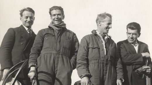 Crew of the Southern Cross, the first flight to Australia across the Pacific Ocean, was met by great crowds when it ...