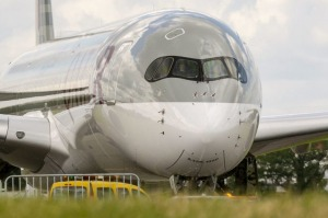 Supplied PR image for Traveller. Qatar Airways A350-1000 arrives for first time in Sydney
