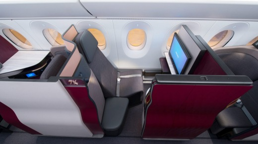 The award-winning QSuite business class.