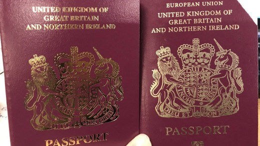 "British passports are red and are now being issued without the words ""European Union"" on the cover despite the Brexit delay."
