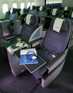 United Airlines' 'Polaris' business class seats.
