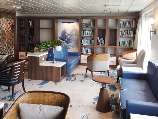 The ship's library.